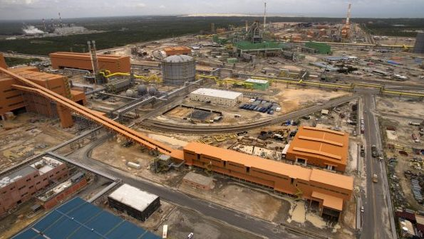 São Gonçalo do Amarante - Vista aérea das obras da Companhia Siderúrgica do Pecém (CSP).