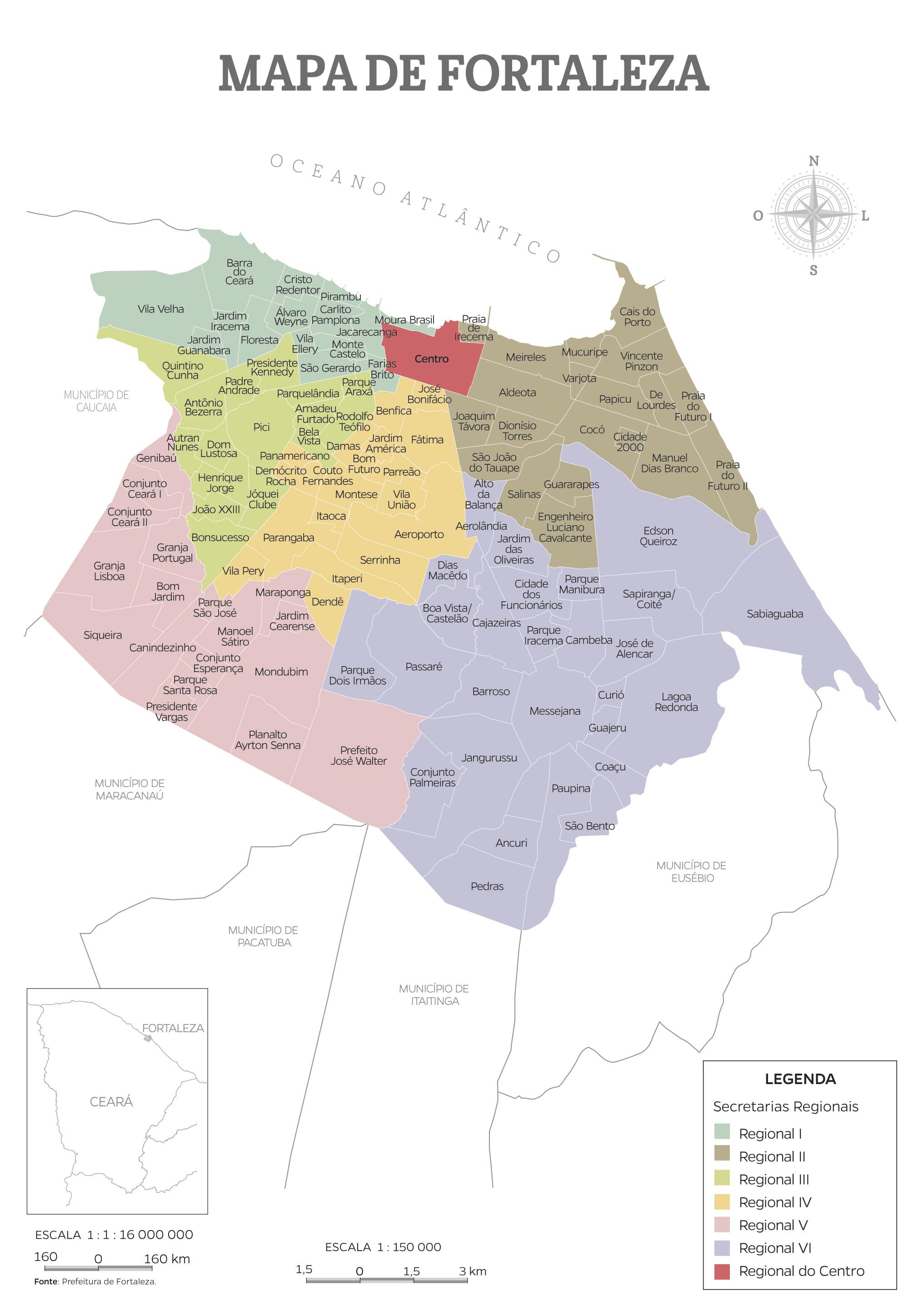Mapa de Fortaleza  Anurio do Cear