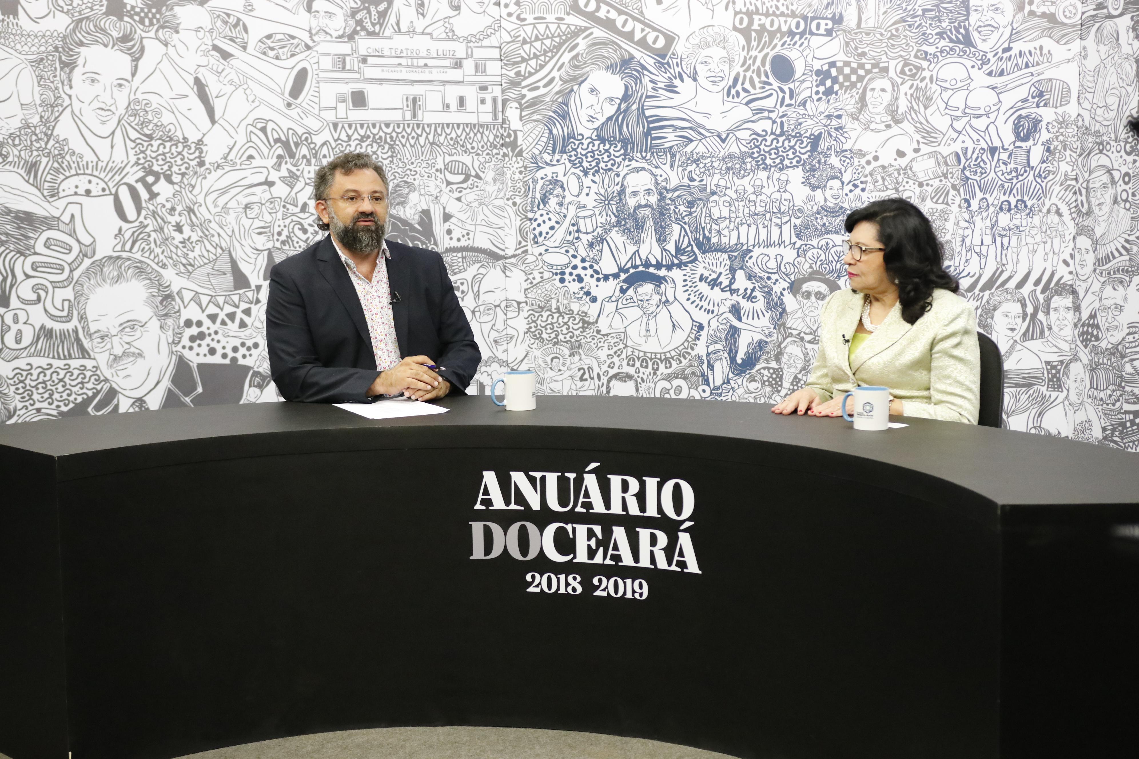 Jocélio Leal entrevista a desembargadora do TJCE, Maria Nailde Pinheiro, para o Especial Anuário do Ceará 2018-2019